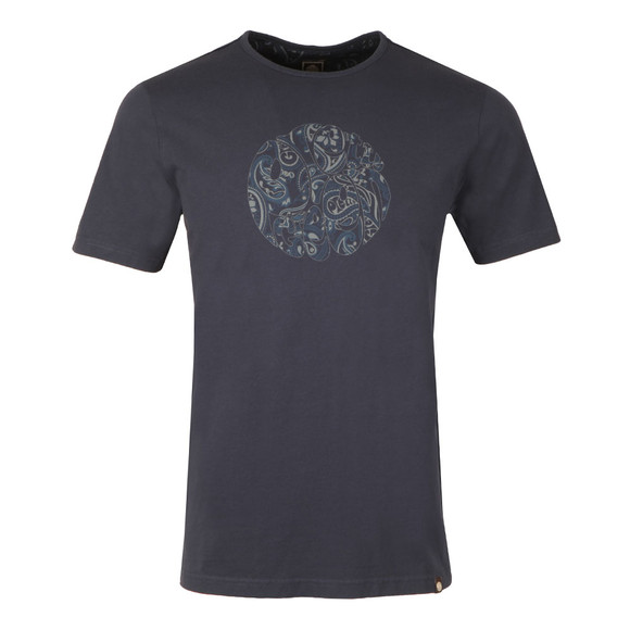 Pretty Green Mens Blue S/S Thornley Paisey Tee main image