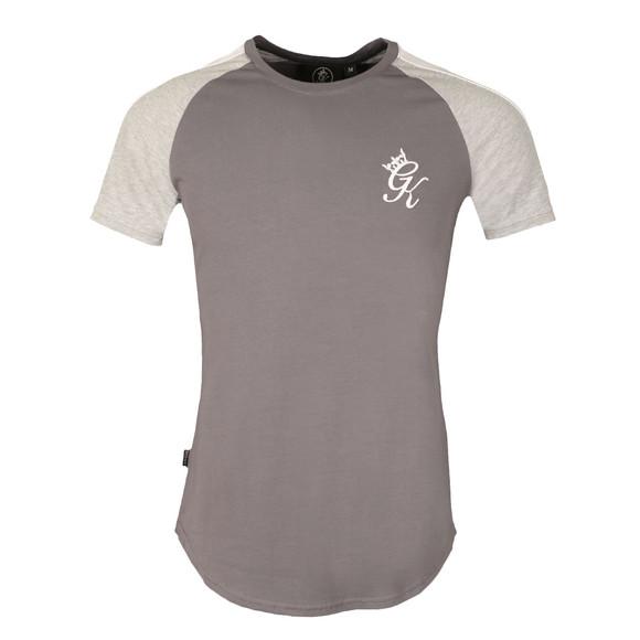 Gym king Mens Grey Retro Striped Tee main image