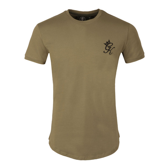 Gym king Mens Green Core Long Line Tee main image