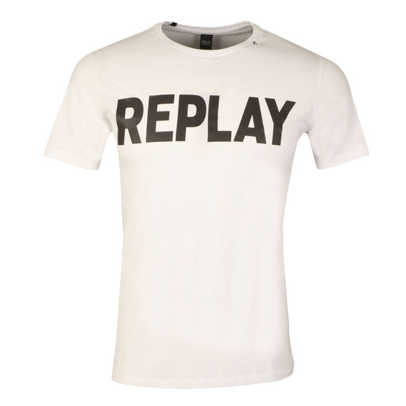Replay Mens White S/S Logo Tee main image