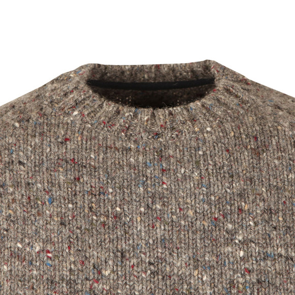 Barbour Heritage Mens Grey Netherby Crew Neck Jumper main image