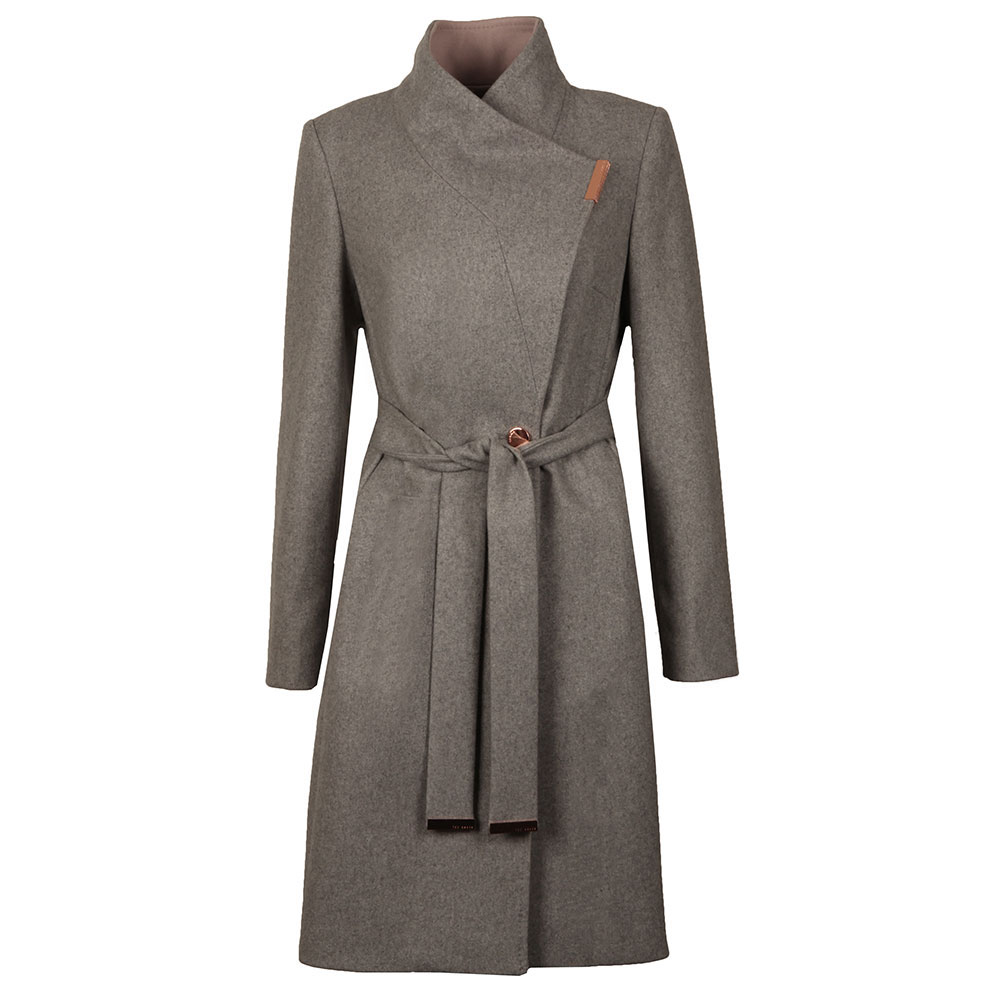 b98f443ca0d4 Ted Baker Khera Contrast Long Wrap Coat