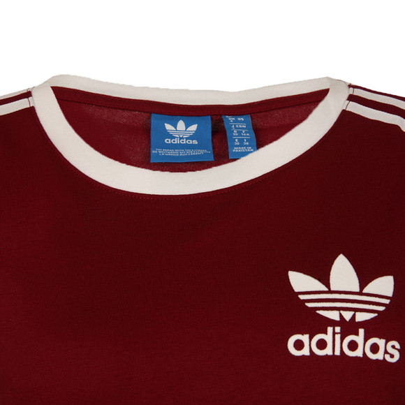 Adidas Originals Womens Red 3 Stripes Tee main image