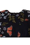 Ted Baker Womens Blue Jennesa Kyoto Gardens Fold Dress