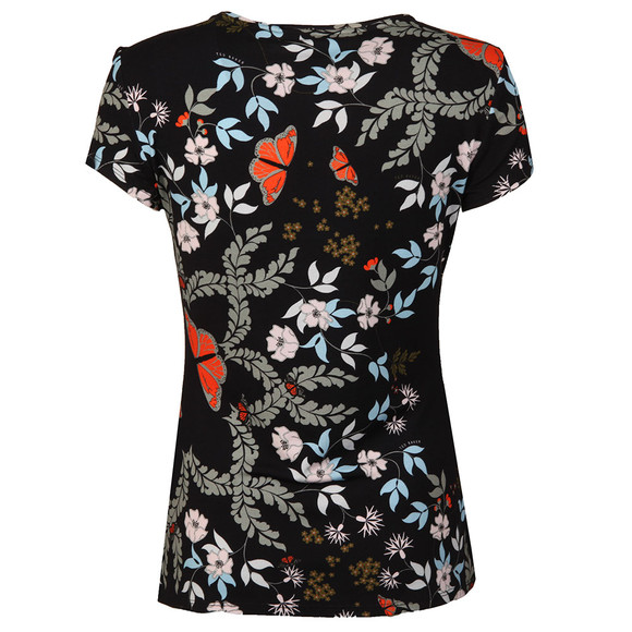 Ted Baker Womens Blue Pepa Kyoto Gardens Fitted Tee main image