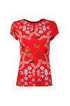 Ted Baker Womens Red Pepa Kyoto Gardens Fitted Tee