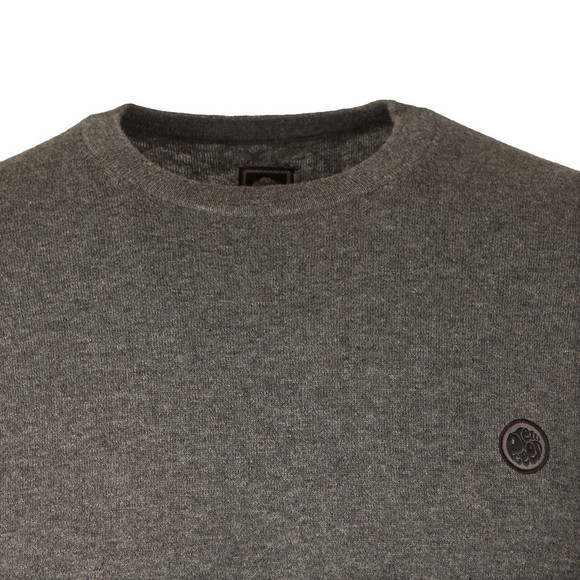 Pretty Green Mens Grey Hinchcliffe Crew Neck Jumper main image