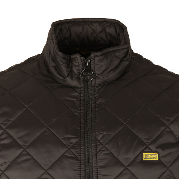 Barbour International Mens Black Gear Quilted Jacket main image