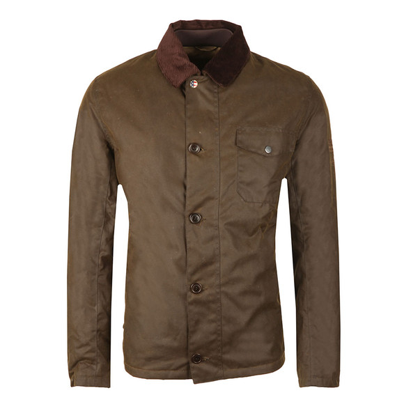 Barbour Steve McQueen Mens Green Deck Wax Jacket main image