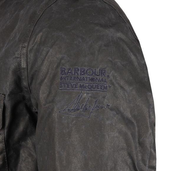 Barbour Steve McQueen Mens Blue Field Wax Jacket main image