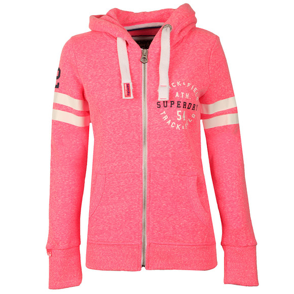 Superdry Womens Pink Track & Field Zip Hoody main image