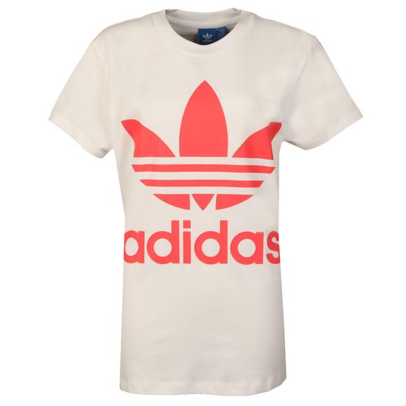 Adidas Originals Womens White Big Trefoil Tee main image