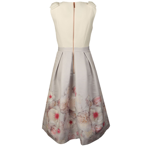 Ted Baker Womens Grey Gilith Chelsea Bow Shoulder Dress main image