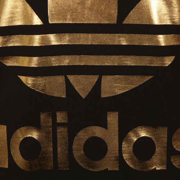 Adidas Originals Womens Black Big Trefoil Tee main image