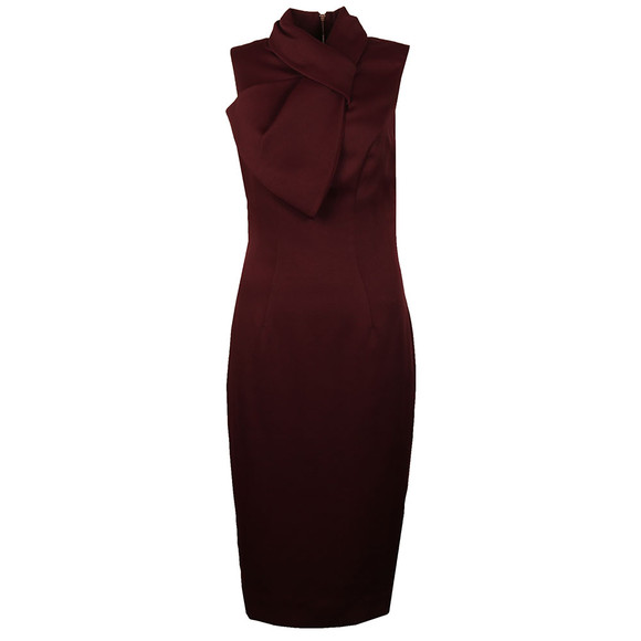 Ted Baker Womens Red Dramatic Bow Neck Dress main image