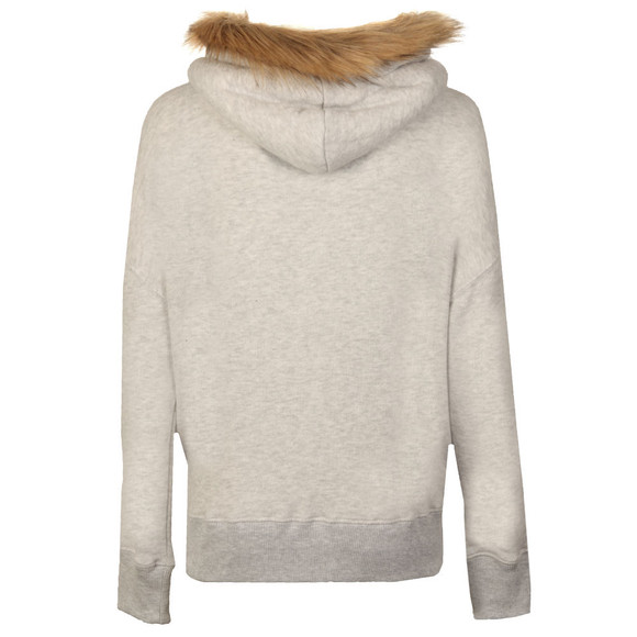 Superdry Womens Grey Applique Fur Slouch Hood main image
