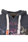Superdry Womens Blue Vintage Logo Sequin Entry Hoody