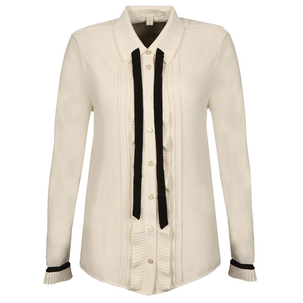 Kavita Pleated Frill Long Sleeve Shirt