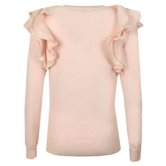 Ted Baker Womens Pink Brosl Frill Shoulder Jumper main image