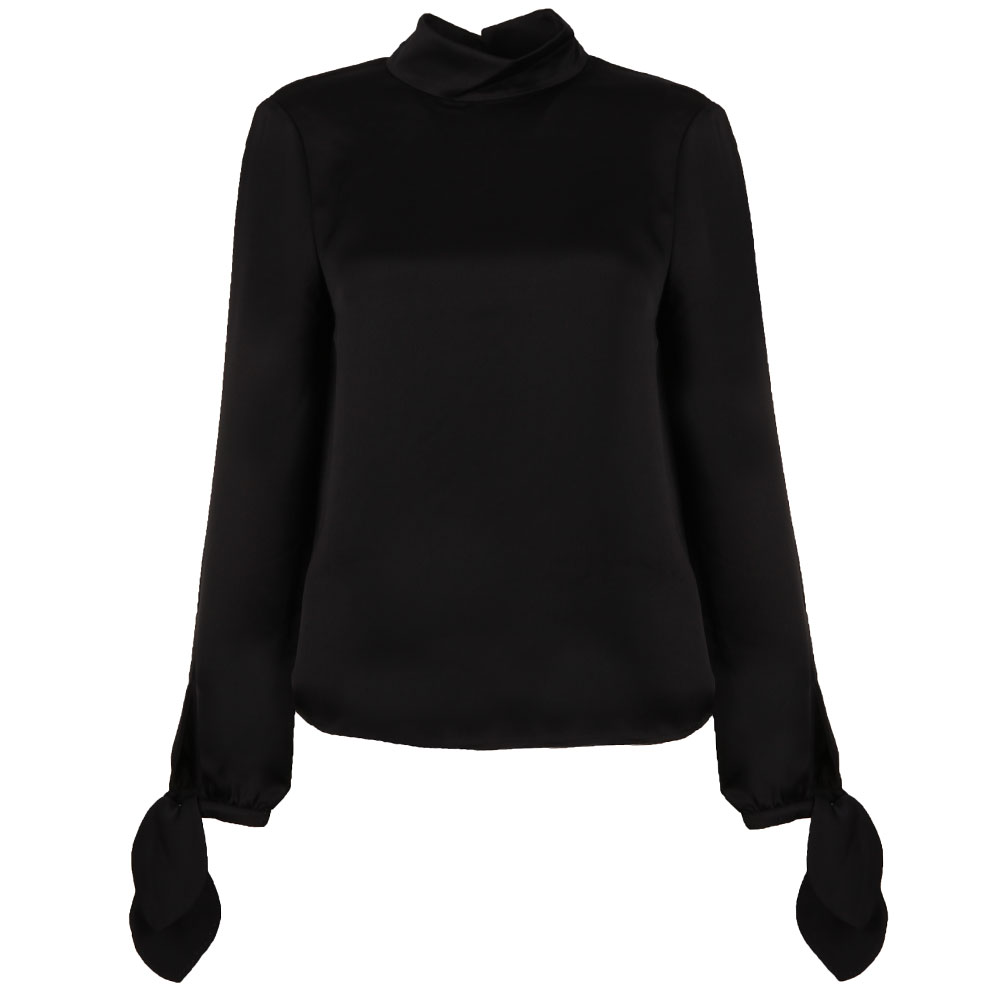 Belare High Neck Sleeve Tie Top