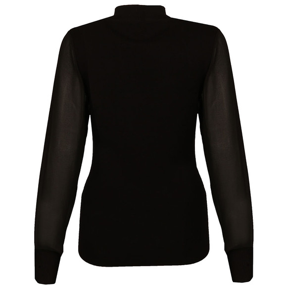 Ted Baker Womens Black Silk Sleeve V Neck Jumper main image