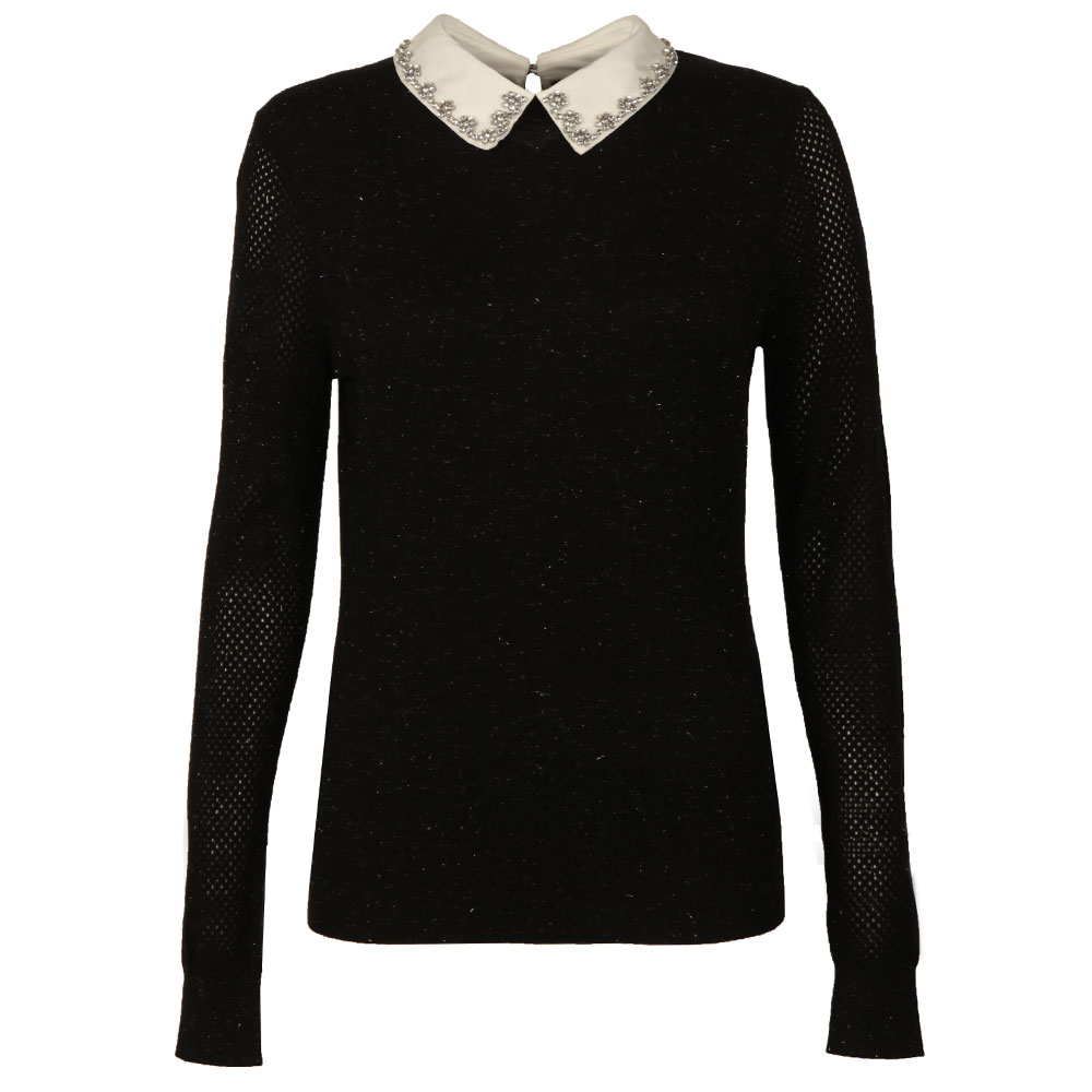 Woven Collar Sparkle Jumper main image