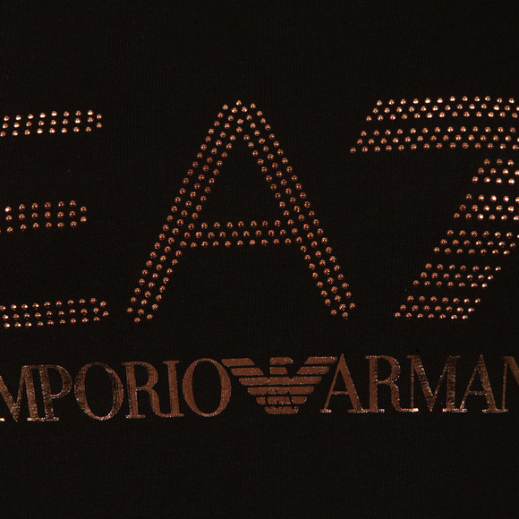 EA7 Emporio Armani Womens Black 6YTT37 T Shirt main image