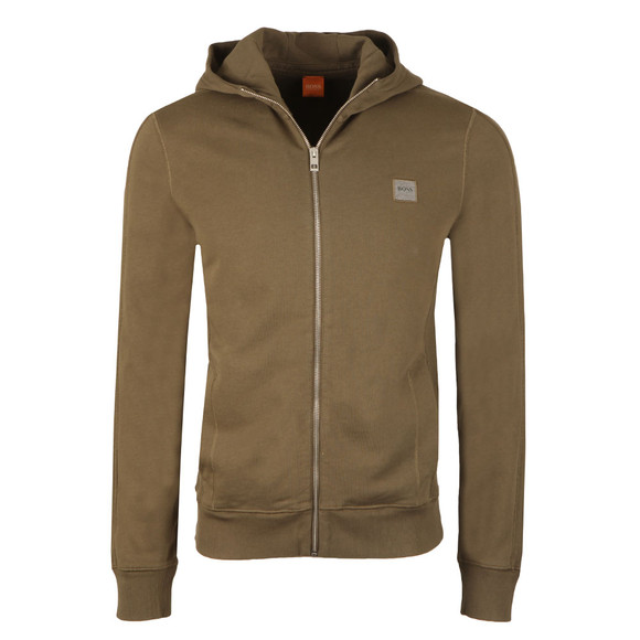 Boss Orange Mens Green Ztadium Zip Hoody main image