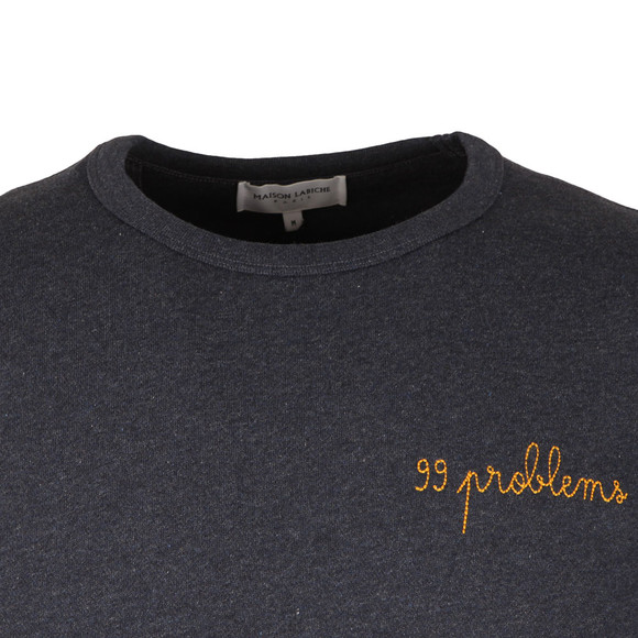 Maison Labiche Mens Blue 99 Problems Sweatshirt main image