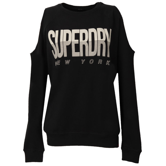 Superdry Womens Blue Sport Cold Shoulder Crew main image