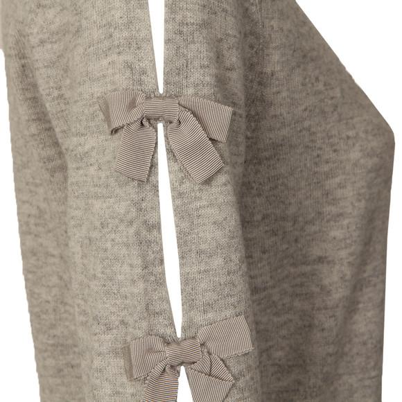 Ted Baker Womens Grey Sakarie Bow Sleeve Detail Jumper main image