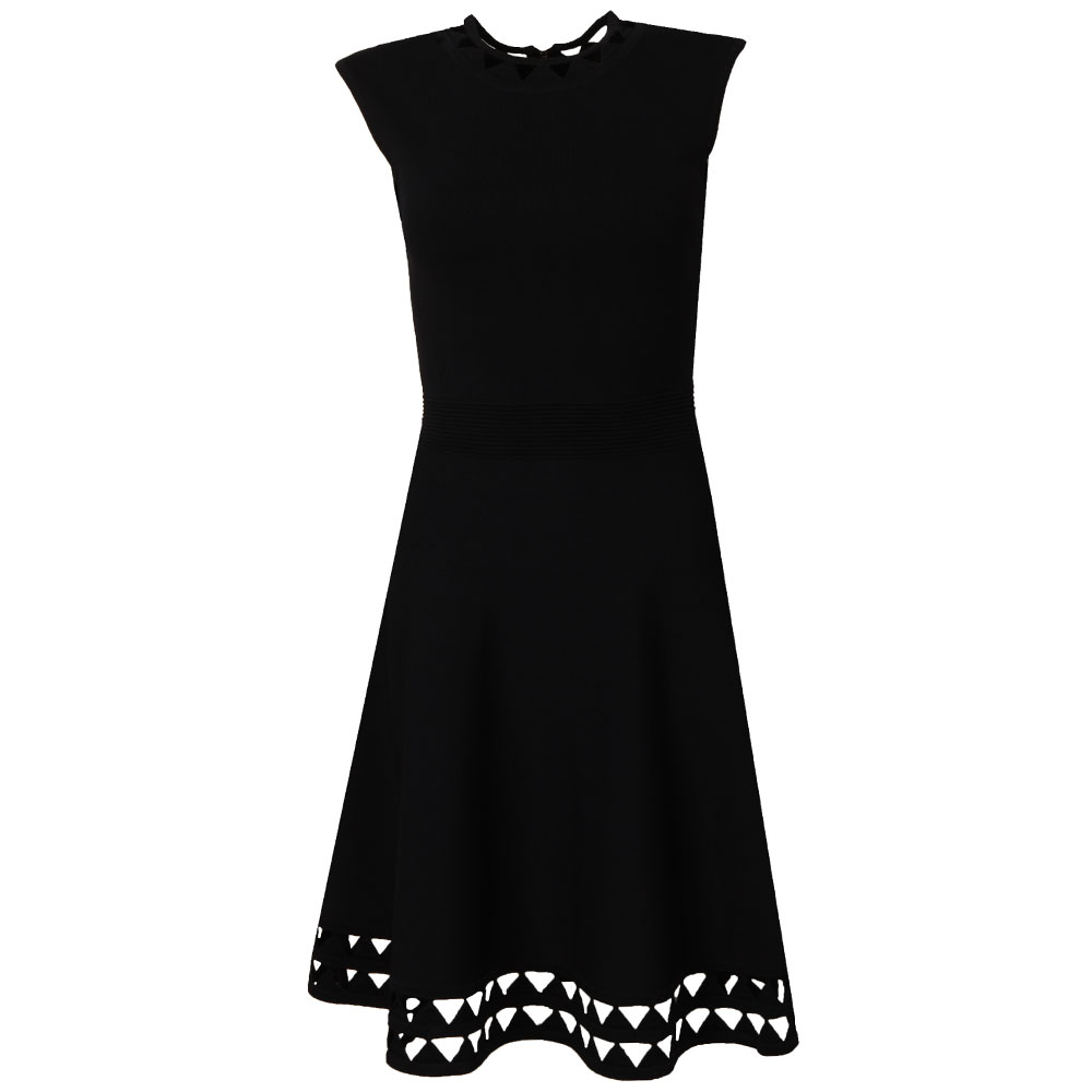 Kathryn Cutwork Knitted Skater Dress main image