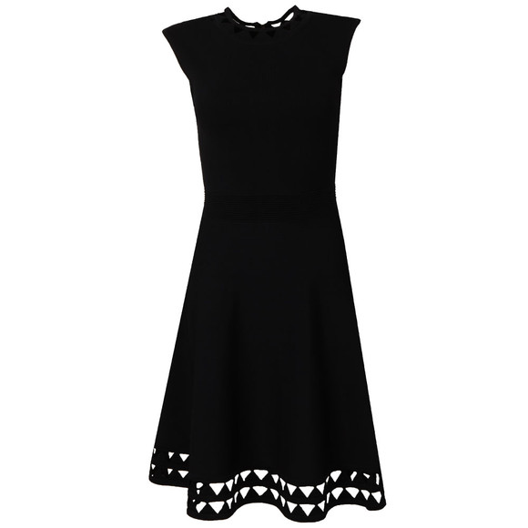 Ted Baker Womens Blue Kathryn Cutwork Knitted Skater Dress main image