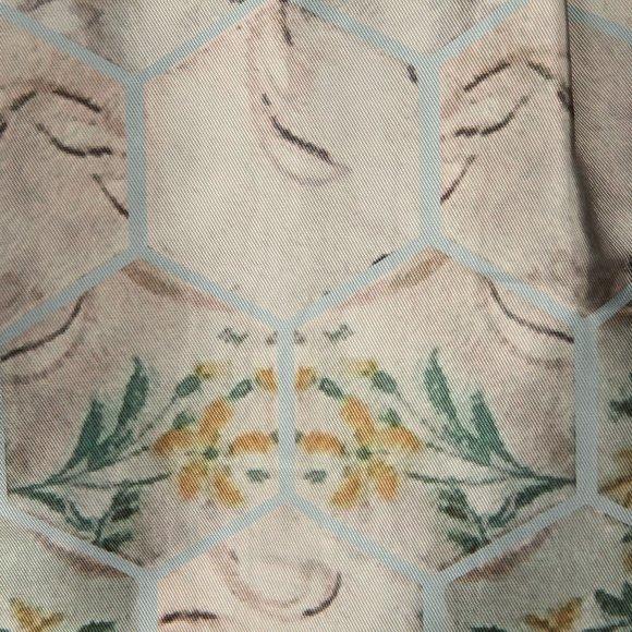 Ted Baker Womens Blue Dewrose Patchwork Bardot Bow Dress main image