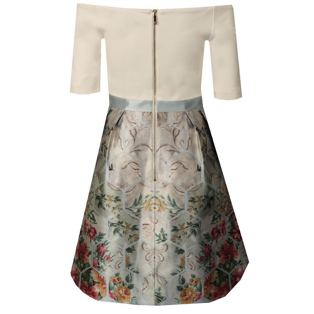 Dewrose Patchwork Bardot Bow Dress main image