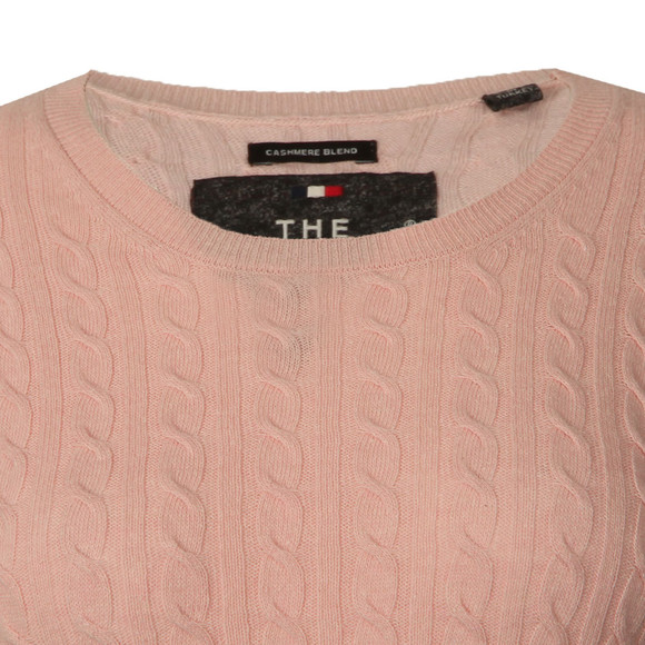 Superdry Womens Pink Luxe Mini Cable Knit main image