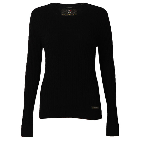 Superdry Womens Blue Luxe Mini Cable Knit main image