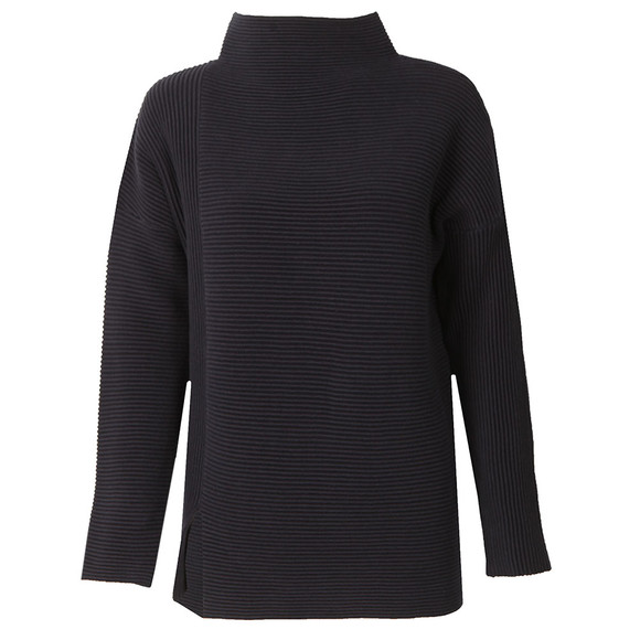 French Connection Womens Blue Sunday Mozart High Neck Jumper  main image