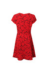 French Connection Womens Red Roseland Drape Dress