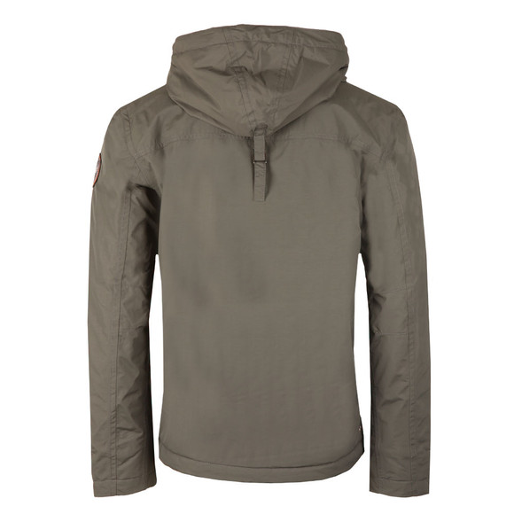 Napapijri Mens Dark Grey Solid Rainforest Winter Jacket main image