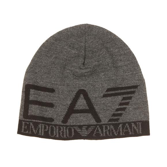 EA7 Emporio Armani Mens Grey Train Visibility Beanie  main image