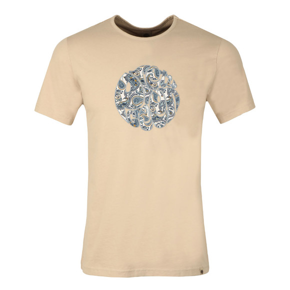 Pretty Green Mens Grey Paisley Applique T Shirt main image