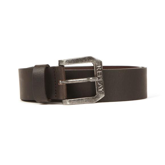 Replay Mens Black Leather Belt main image