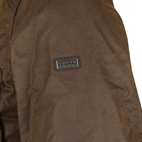 Barbour International Mens Green Weir Wax Jacket main image