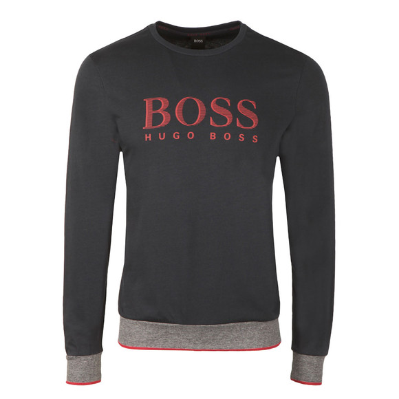 Boss Mens Blue Large Logo Crew Sweatshirt main image
