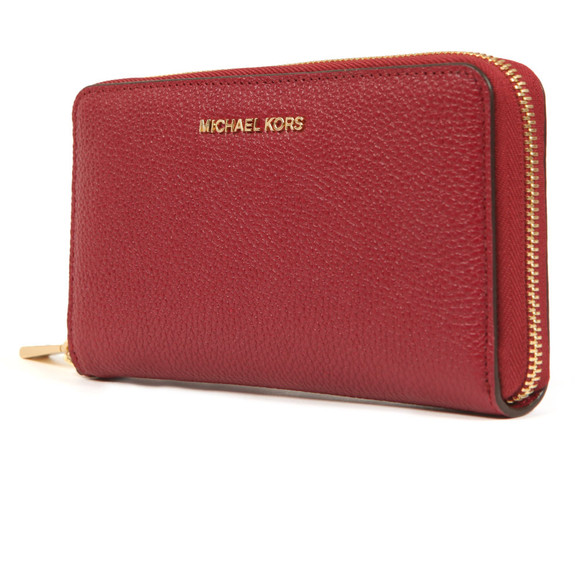 Michael Kors Womens Purple Mercer Large Leather Phone Case main image