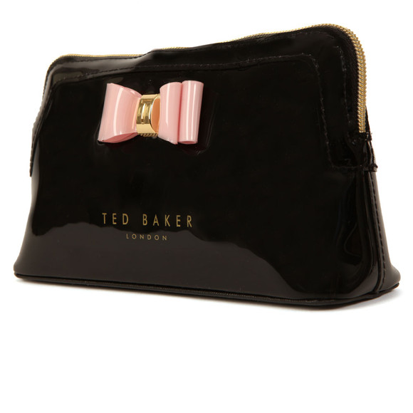 Ted Baker Womens Black Julis Bow Triangle Make Up Bag main image