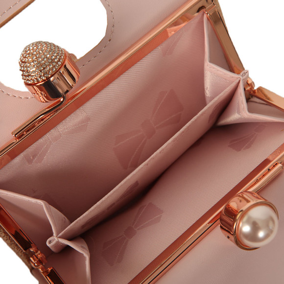 Ted Baker Womens Pink Crystal Pearl Bobble Small Purse main image