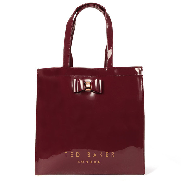 Ted Baker Womens Red Bethcon Bow Detail Large Icon Bag main image