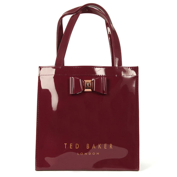 Ted Baker Womens Red Jenacon Bow Detail Small Icon Bag main image